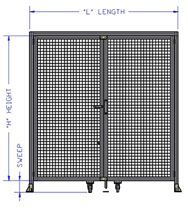 Height of Door Assembly (mm)