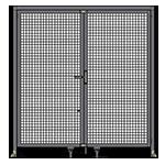 J1 -Single Panel Doors W/ Header