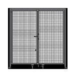 J3 - Single Panel Doors Robust Frame W/ Header