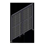 J5 - Double Panel Doors W / Header