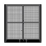 J7 - Double Panel Doors Robust Frame W/ Header