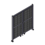 J7 - Double Panel Doors Robust Frame W / Header