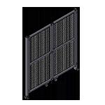 J8 - Double Panel Doors Robust Frame W/O Header
