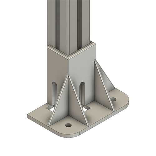 T - 3 Sided Foot (Can Be Adjusted at Install)