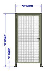 Height of Door Section (mm)