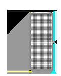H5 -  Single Panel W/O Legs - Slides Left