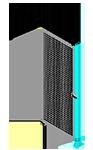 H5 - Single Panel W/O Legs Slides Left