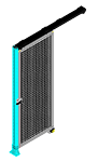 H6 - Single Panel W/O Legs - Slides Right