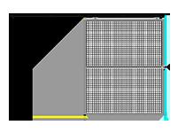 H7 -  Double Panel W/O Legs - Slides Left